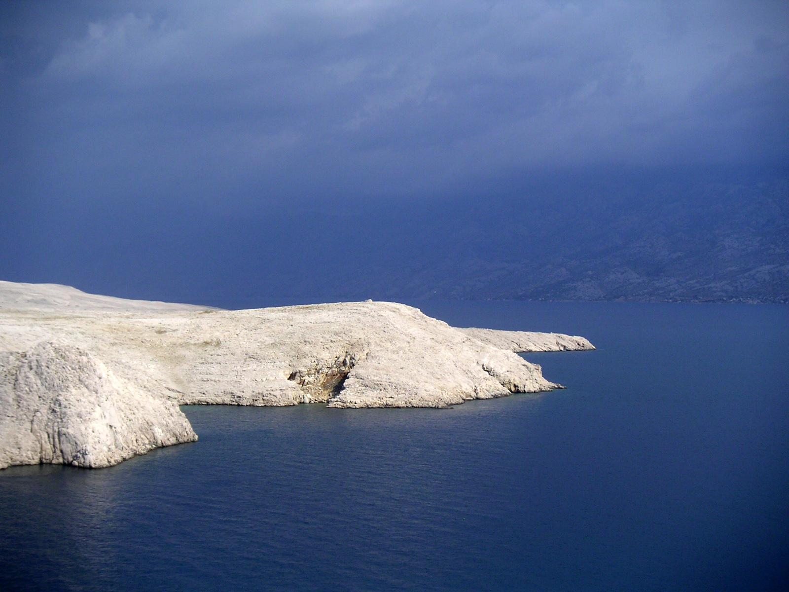 pláže ostrov Pag
